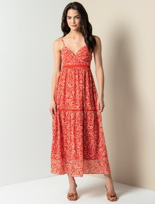 Forever New Luna Maxi Dress - Scarlet Ditsy - 10