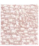 Hemisphere elephant pattern scarf - women - Wool - One Size
