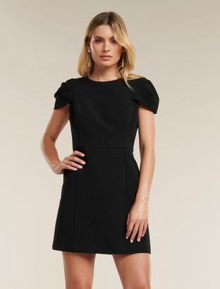 Forever New Perla Petal Sleeve Mini Dress - Black - 12