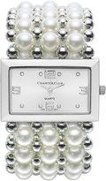 Charter Club Women's Silver-Tone Imitation Pearl Stretch Bracelet 46mm