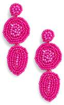 Rebecca Minkoff Linear Beaded Disc Earrings