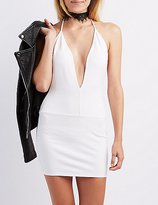 Charlotte Russe Plunging Bodycon Dress