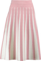Iris and Ink Daisy Pleated Stretch-Knit Skirt