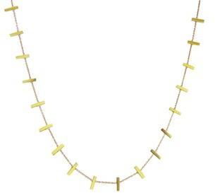 Jennifer Meyer 18 Inch Yellow Gold Cross Bar Necklace