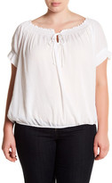 Susina Ruched Tie Detail Shirt (Plus Size)