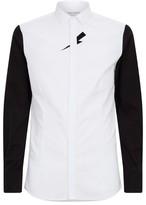 Neil Barrett Cotton Contrast Sleeve Shirt