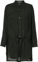 Issey Miyake Pre Owned long mandarin collar shirt
