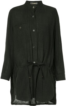 Long Mandarin Collar Shirt