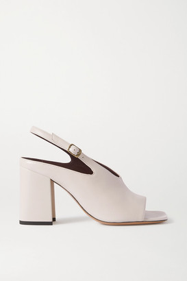 Dries Van Noten Leather Slingback Sandals - Cream