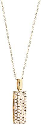 Bony Levy Bold Rectangle Diamond Pendant Necklace