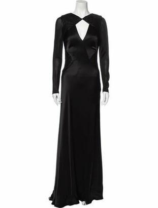 Catherine Deane Crew Neck Long Dress Black