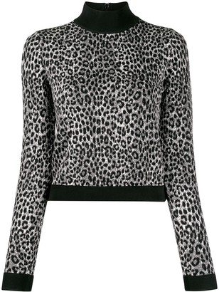 MICHAEL Michael Kors slim-fit animal print jumper