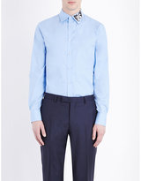 Alexander Mcqueen Slim-fit Butterfly Embroidered Cotton Shirt