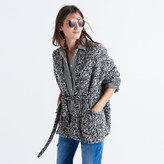 Madewell Marled Tie Cardigan Sweater