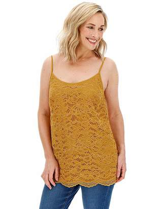 Capsule Ochre All Over Corded Lace Cami