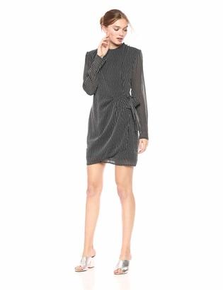 ASTR the Label Women's Jolene Long Sleeve Front Wrap Mini Dress