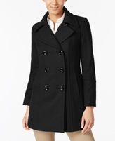 Anne Klein Petite Double-Breasted Peacoat