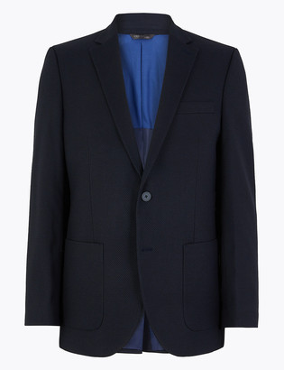 Marks and Spencer Big & Tall Navy Regular Fit Jacket