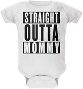 Old Glory Straight Outta Mommy Funny Soft Baby Crewneck One Piece 24 Month