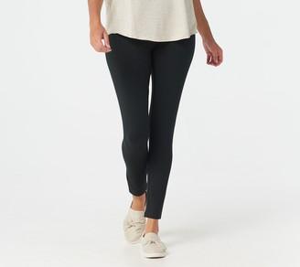 Women With Control Petite Tummy Control Leggings w/ No Side Seam