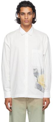 Jacquemus White Butter Print La Chemise Baou Shirt