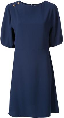 Chloé Button-Detail Short Dress