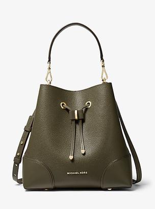 Michael Kors Mercer Gallery Medium Pebbled Leather Shoulder Bag