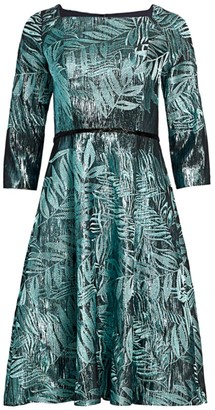 Rene Ruiz Collection Foliage Print Cocktail Dress