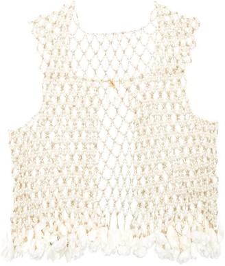 Rosantica Sentiero Faux-pearl Vest - Womens - White