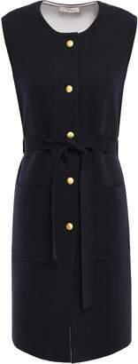 Tory Burch Belted Merino Wool-blend Dress