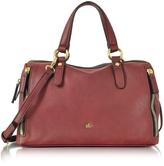 Roccobarocco Large Burgundy Eco Leather Zip Satchel Bag