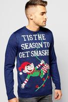 Boohoo Get Smashed Christmas Jumper