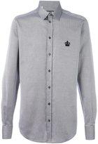 Dolce & Gabbana embroidered crown printed shirt - men - Cotton - 39