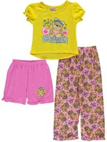 "1000% Cute Little Girls' Toddler ""Dream on, Dreamer"" 3-Piece Pajamas"