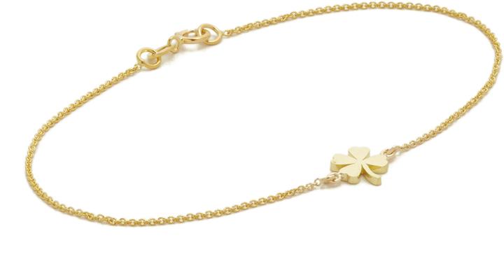 Jennifer Meyer Jewelry 18k Gold Mini Clover Bracelet