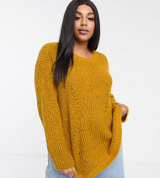 Only Curve sweater in mustard