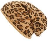 BP Women's Leopard Print Slouchy Beanie - Brown