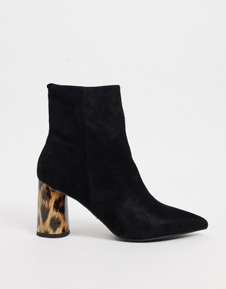 Kg Kurt Geiger KG by Kurt Geiger pointed block heel ankle boots in black