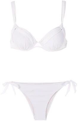 AMIR SLAMA Ruched Detail Bikini Set