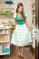 Shabby Apple Little Darlin' Skirt Green and White