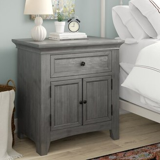 Three Posts Woodside 1 - Drawer Nightstand Color: Antique Gray