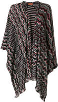 Missoni geometric knitted shawl