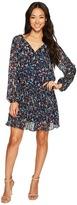 Tahari by Arthur S. Levine Petite Dropwaist Floral Chiffon Dress with Sleeve Women's Dress