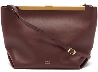 KHAITE Augusta Leather Cross-body Bag - Burgundy