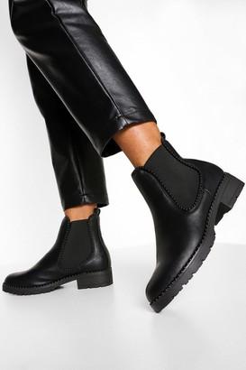 boohoo Stud Detail Chelsea Boot
