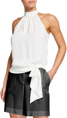 Trina Turk Champagne Halter-Neck Cocktail Top