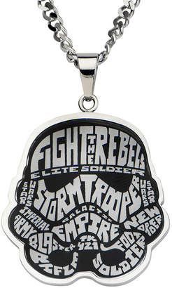 Star Wars FINE JEWELRY Stormtrooper Mens Stainless Steel Pendant Necklace