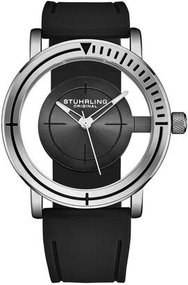 Stuhrling Original Men's Rubber Watch