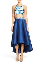 Mac Duggal Women's Print Two-Piece Midi Dress