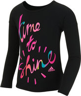 adidas Graphic-Print Long-Sleeve T-Shirt, Toddler Girls (2T-5T) & Little Girls (2-6X)